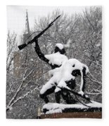 Soldiers In The Snow Fleece Blanket