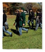 Soldiers March Two By Two Fleece Blanket