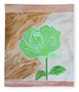 Solitary Rose Fleece Blanket