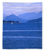 Solitary Sailing Fleece Blanket