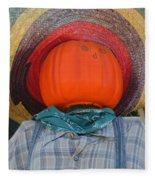 Sombrero Scarecrow Fleece Blanket