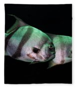 Something Fishy This Way Comes Fleece Blanket