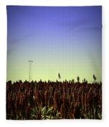 Sorghum Fields Forever Fleece Blanket