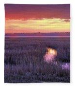 South Carolina Tidal Marshes Fleece Blanket