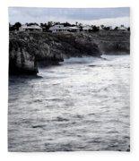 Menorca South Coast In A Stormy Mediterranean Day Fleece Blanket