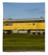 South Dakota Central Train Fleece Blanket