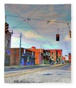 South Main Street Memphis Fleece Blanket