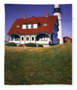 South Portland Lighthouse Fleece Blanket