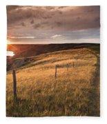 South Saskatchewan River Near Leader Fleece Blanket