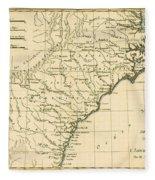 Southeast Coast Of America Fleece Blanket