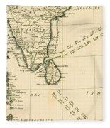 Southern India And Ceylon Fleece Blanket