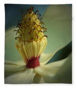 Southern Magnolia Flower Fleece Blanket