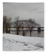 Southern Snow Fleece Blanket