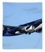 Southwest 737-7h4 N713sw Shamu Phoenix Sky Harbor Arizona December 23 2011 Fleece Blanket