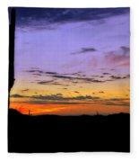 Southwestern Style Sunrise  Fleece Blanket