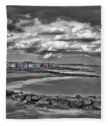 Southwold Beach Huts Fleece Blanket