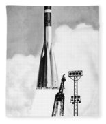 Soviet Soyuz Rocket, 1975 Fleece Blanket
