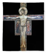Sozio: Crucifix, 13th C Fleece Blanket