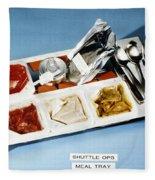 Space: Food Tray, 1982 Fleece Blanket