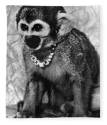 Space Monkey: Baker, 1979 Fleece Blanket