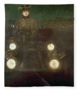 Spain: Automobile, 1909 Fleece Blanket
