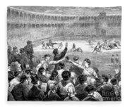 Spain: Bullfight, 1875 Fleece Blanket
