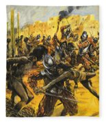 Spanish Conquistadors Fleece Blanket