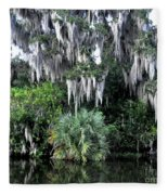 Spanish Moss Fleece Blanket
