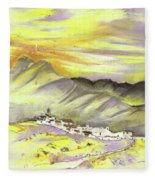 Spanish Mountain Village 01 Fleece Blanket