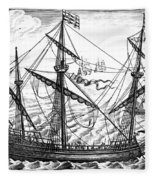 Spanish Ship, C1595 Fleece Blanket