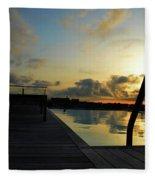 Spanish Sunrise Fleece Blanket