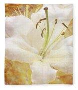 Sparkling Lily Fleece Blanket