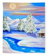Sparkling Winter Fleece Blanket