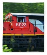 Speeding Cn Train Fleece Blanket