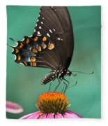 Spicebush Swallowtail Butterfly Fleece Blanket