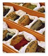 Spices On The Market Fleece Blanket