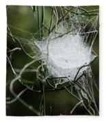 Spider Web Basket Fleece Blanket
