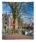 Spiegelgracht 36. Amsterdam Fleece Blanket