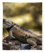 Spiny Lizard Fleece Blanket