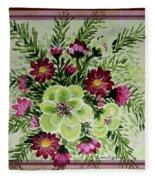 Spiral Bouquet  Fleece Blanket