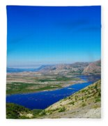 Spirit Lake From Windy Point  Fleece Blanket