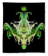 Spirit Of The Leaf Fleece Blanket