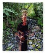 Spirit Rising From The Creek Fleece Blanket