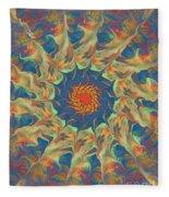 Spiritual Pinwheel Fleece Blanket