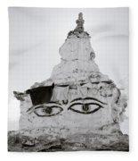 Spirituality In The Himalayas Fleece Blanket