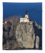 Split Rock Lighthouse 76 Fleece Blanket