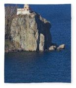 Split Rock Lighthouse 77 Fleece Blanket