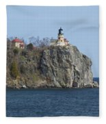 Split Rock Lighthouse 83 Fleece Blanket