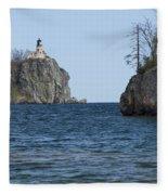 Split Rock Lighthouse 87 Fleece Blanket