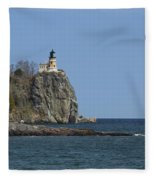 Split Rock Lighthouse 89 Fleece Blanket